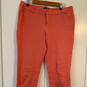 Salmon pink & black Old Navy Pixie pants sz 14